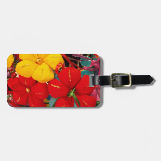 Mexican Crepe Flowers Luggage Tag