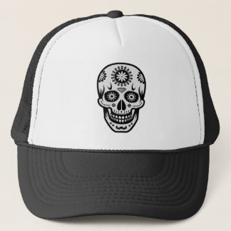 Mexican Day of the Dead Sugar Skull Trucker Hat