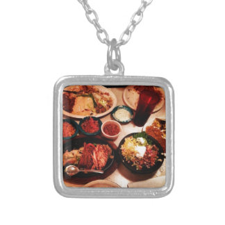 Mexican Dinner Silver Plated Necklace