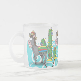 Mexican Donkey Frosted Glass Mug