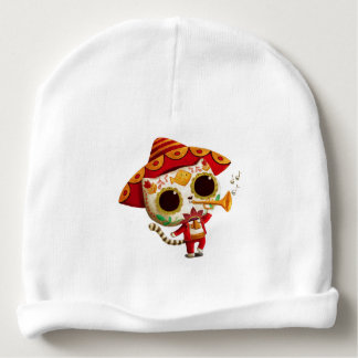 Mexican El mariachi Cute Cat Baby Beanie