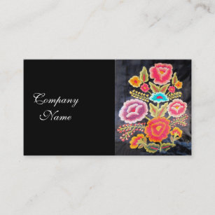 Embroidered business cards zazzle nz mexican embroidery design business card colourmoves