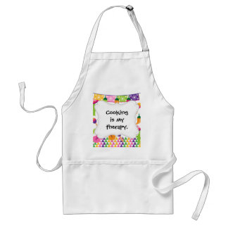 Mexican Fiesta Party Sombrero Saguaro Lime Peppers Standard Apron