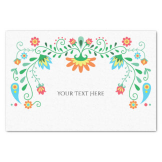 Mexican Fiesta Personalized Tissue Paper