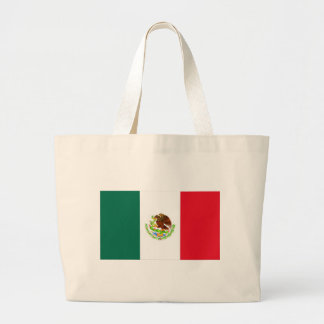 Mexican Flag Large Tote Bag