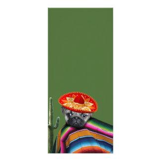 Mexican pug dog full color rack card