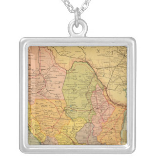 Mexican Railroads Silver Plated Necklace
