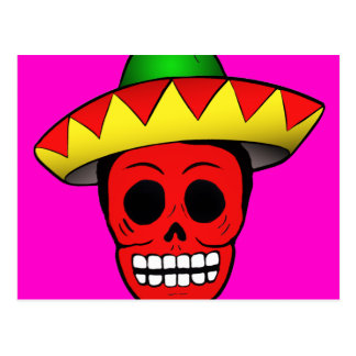 Mexican Skull Design Postcard