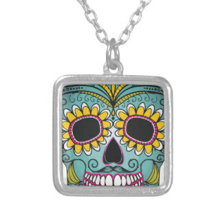 Mexican Skull Silver Plated Necklace