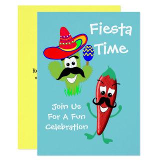 Mexican Sombrero Cactus Chilli Pepper Fiesta Party Card