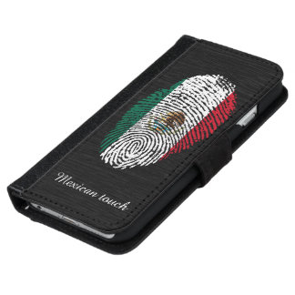 Mexican touch fingerprint flag iPhone 6 wallet case