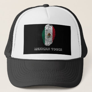 mexican touch fingerprint flag trucker hat