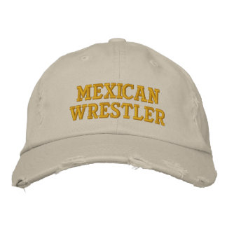 Mexican Wrestler Embroidered Hat