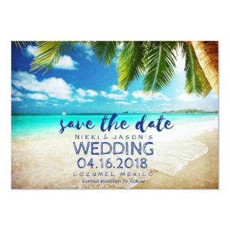 Mexico Beach Destination Wedding Save the Dates 13 Cm X 18 Cm Invitation Card