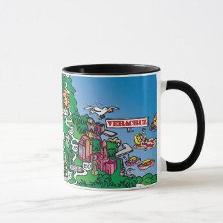 Mexico Cartoon Map Mug