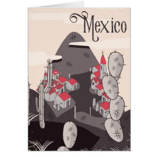 Mexico Cartoon Town Card
