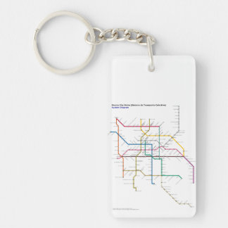 Mexico City Public Transport Map Key Ring