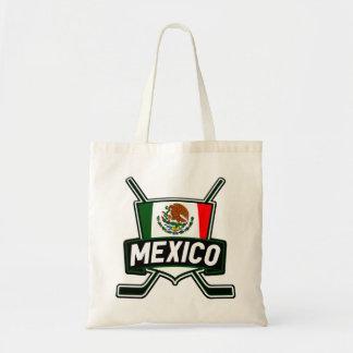 Mexico Ice Hockey Flag Tote Bag
