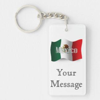 Mexico Waving Flag Key Ring