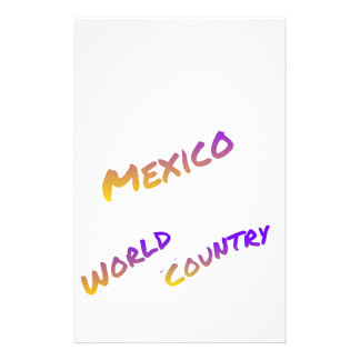 Mexico world Country letter art color Stationery