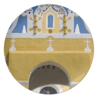 Mexico, Yucatan, Izamal. The Franciscan Convent Dinner Plates