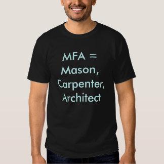 MFA vs PhD shirt