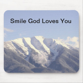 _MG_3944, Smile God Loves You Mouse Pad
