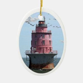 Miah Maull Shoal Lighthouse Christmas Ornament