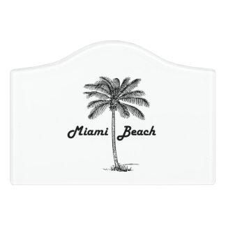 Miami Beach Door Sign