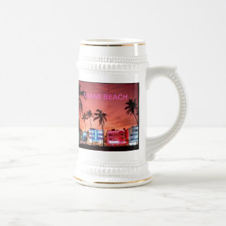 Miami Beach, Florida Beer Stein