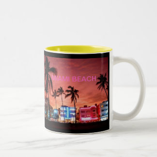 Miami Beach, Florida Two-Tone Coffee Mug