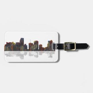 Miami Florida Skyline Luggage Tag