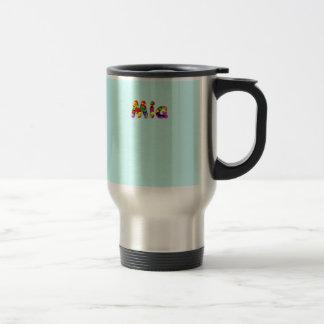Mia's travel mug