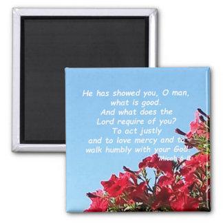 Micah 6:8 square magnet