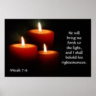 Micah Scripture Poster