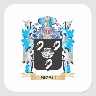 Micali Coat of Arms - Family Crest Square Sticker