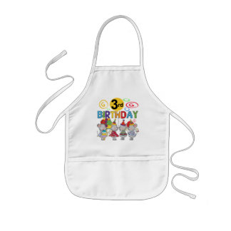 Mice 3rd Birthday T-shirts and Gifts Kids Apron