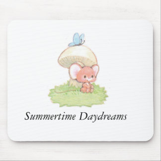 Mice Summertime Daydreaming Mouse Pad