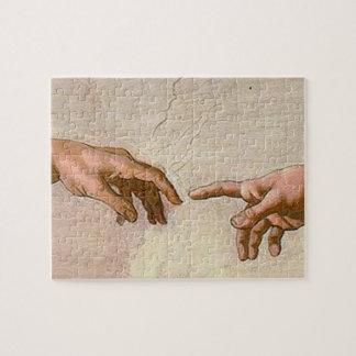 Michelangelo Creation of Adam Jigsaw Puzzles