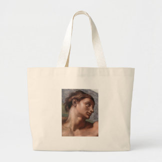 Michelangelo Creation of Adam Large Tote Bag