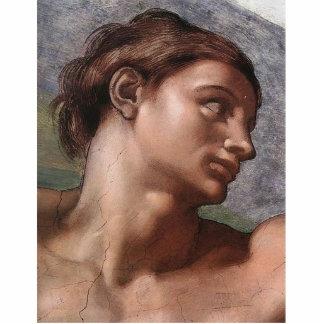 Michelangelo Creation of Adam Standing Photo Sculpture