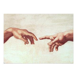 Michelangelo Hands Invitations