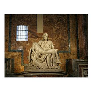 Michelangelo's Pieta in St. Peter's Basilica Postcard