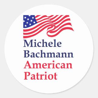 Michele Bachmann American Patriot Classic Round Sticker
