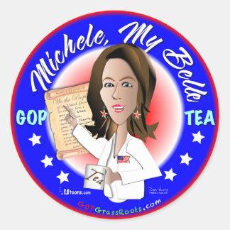 Michele, My Belle Classic Round Sticker
