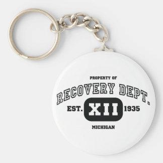 MICHIGAN Recovery Basic Round Button Key Ring