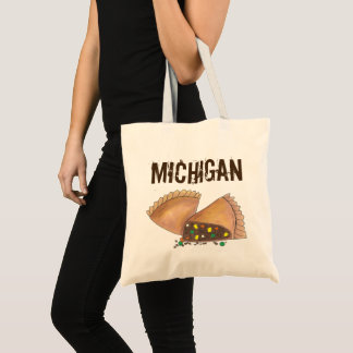 Michigan Upper Peninsula Pasty Meat Pie Foodie Tote Bag