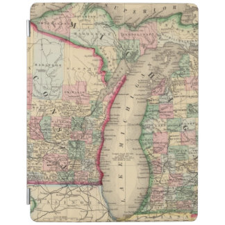Michigan, Wisconsin Map by Mitchell iPad Cover