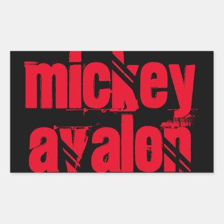 mickey avalon rectangular sticker