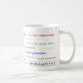 Microbiologist's A to Z mug - white